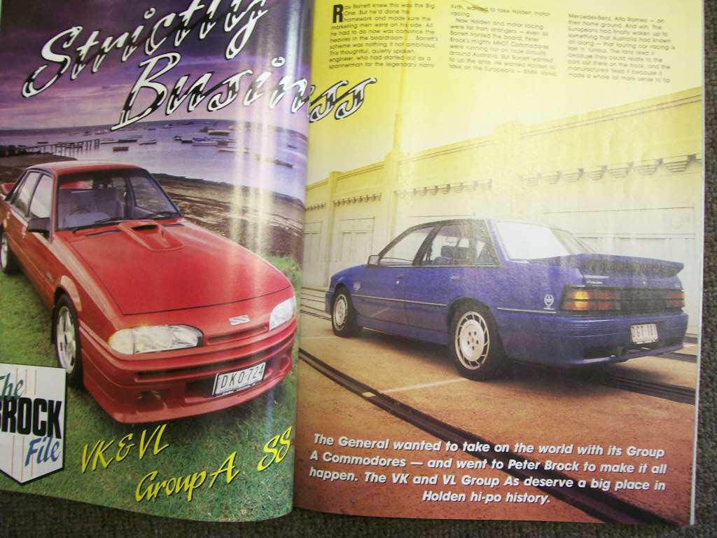 STREET MACHINE MAGAZINE 1988/07 HDT VK GROUP A SS PROFILE DETAIL