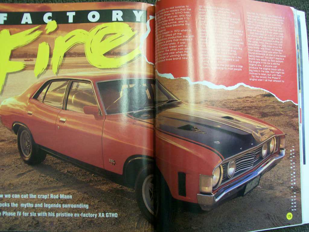 STREET MACHINE MAGAZINE 1989 XA FALCON PHASE 4 GTHO