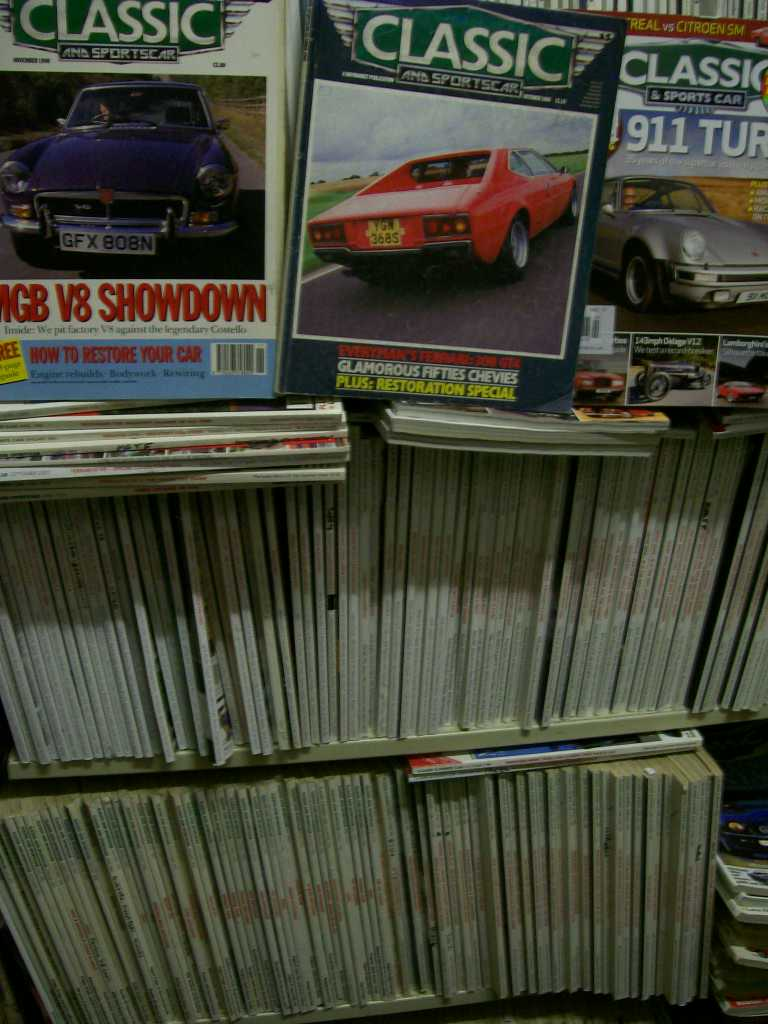 CLASSIC & SPORTSCAR BACK ISSUES $5 TO $9 EACH WE HAVE 100s