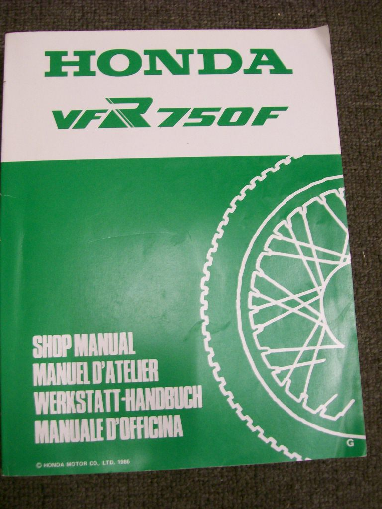 HONDA VFR 750F 1986 1987 FACTORY SHOP REPAIR MANUAL