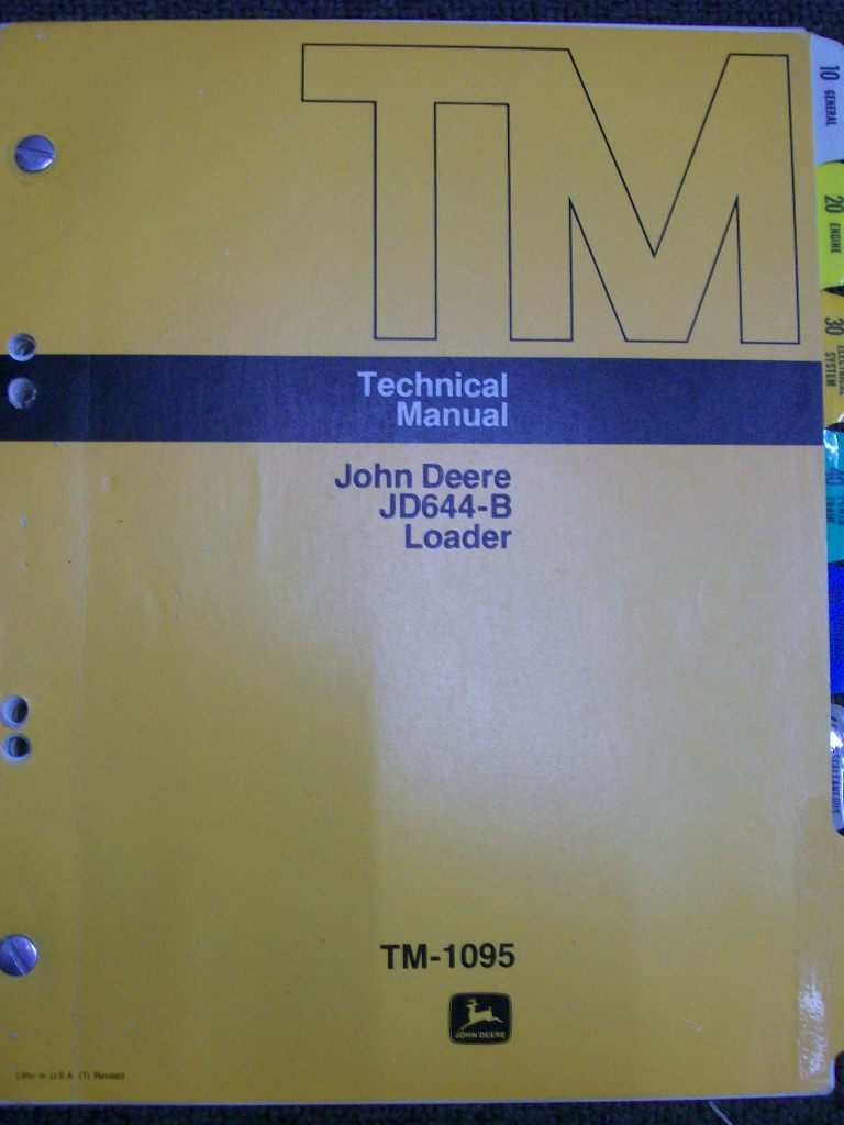 JOHN DEERE JD664-B LOADER FACTORY REPAIR WORKSOP MANUAL