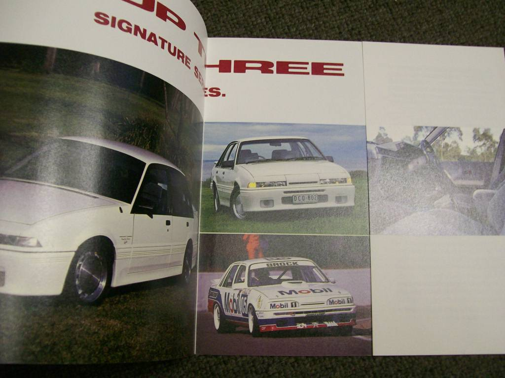 HDT VL COMMODORE BROCK VL SS GROUP 3 SIGNATURE SERIES BROCHURE