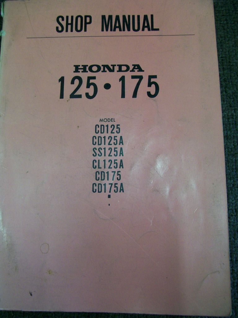 HONDA CD 125 175 CL 125  SS125 REPAIR MANUAL 1968 ON