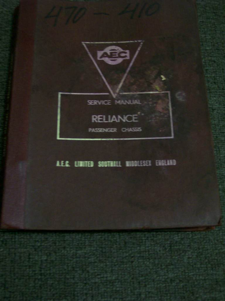 AEC RELIANCE HMU 2HMU ORIGINAL GENUINE  REPAIR MANUAL