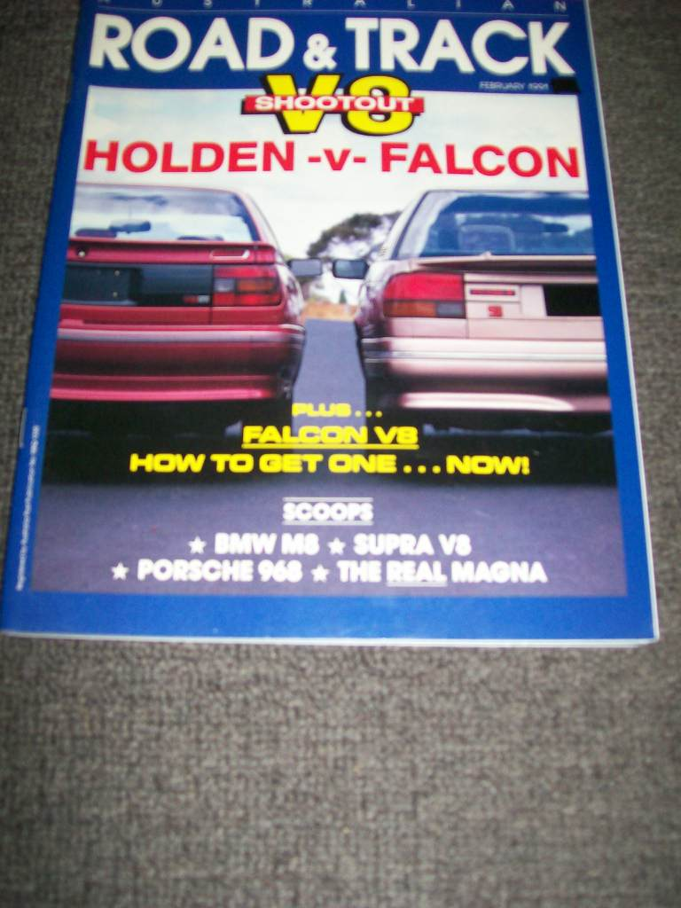 ROAD & TRACK AUS 1991/02 VN SS COMMODORE 304 V8  v EA FALCON 302
