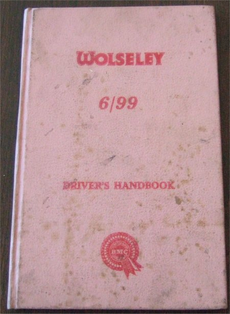 WOLSELEY 6/99 1959-61 DRIVERS HANDBOOK