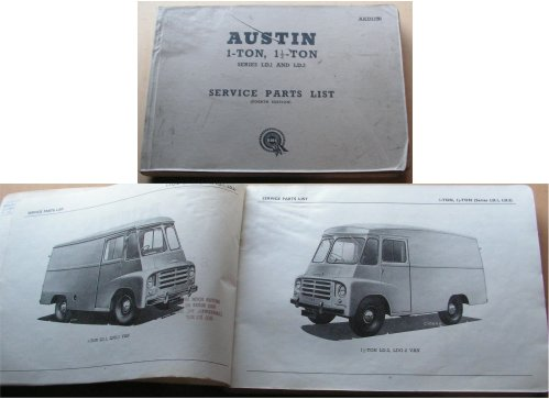 AUSTIN LD1 LD2  1 and 1.5 TON PARTS BOOK