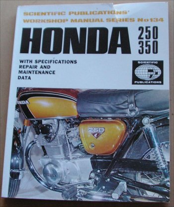 HONDA 1969-74 CB250 CB350 CL350 CL250 350SL MANUAL