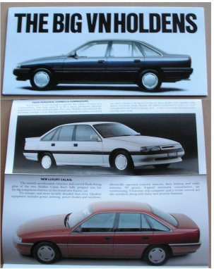 HOLDEN COMMODORE 1988 1989 VN CALAIS LINE SMALL SALES BROCHURE