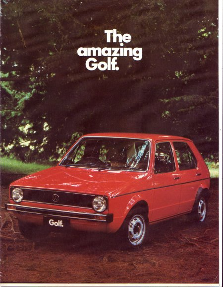 VW GOLF 1976 AUSTRALIAN SALES BROCHURE