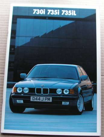 BMW 1986 730i 735i 735iL SALES  BROCHURE