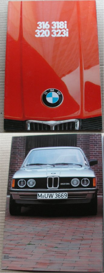 BMW 1981 316 318i 320 323i SALES BROCHURE