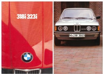 BMW 1981 318i 323i  SALES BROCHURE