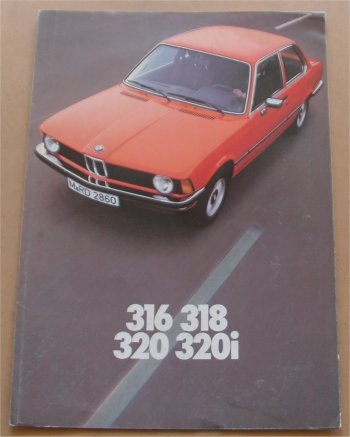 BMW 1976 316 318 320 320i SALES BROCHURE