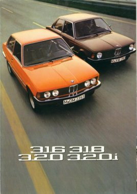 BMW 1975 316 318 320 320i SALES BROCHURE