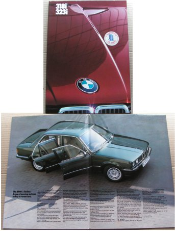 BMW 1984 318i 323i SALES BROCHURE