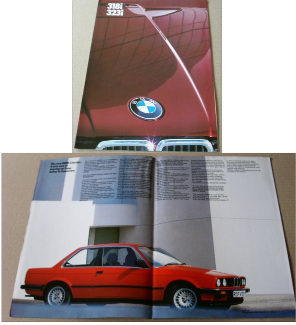 BMW 1983 318I 323I SALES BROCHURE