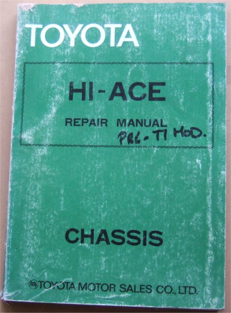 TOYOTA HI ACE 1976 CHASSIS MANUAL