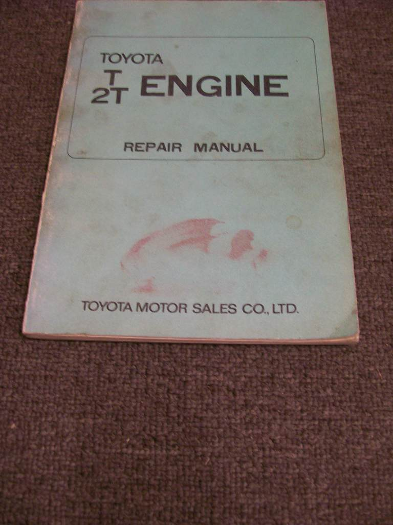 TOYOTA T 2T 2TB 1971 on ENGINE REPAIR MANUAL