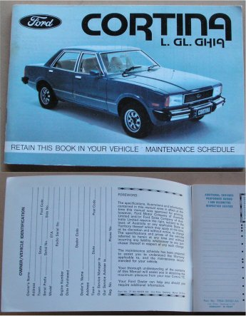 FORD CORTINA 1977 1978 TE OWNERS MANUAL MAINTENANCE blank