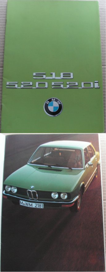 BMW 1975 518 520 520i SALES BROCHURE