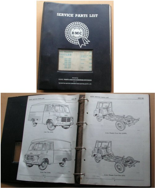 MORRIS LD 1 1.5 TON BODY PARTS BOOK