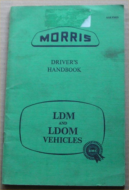 MORRIS LD 1958 LDM LDOM OWNERS MANUAL