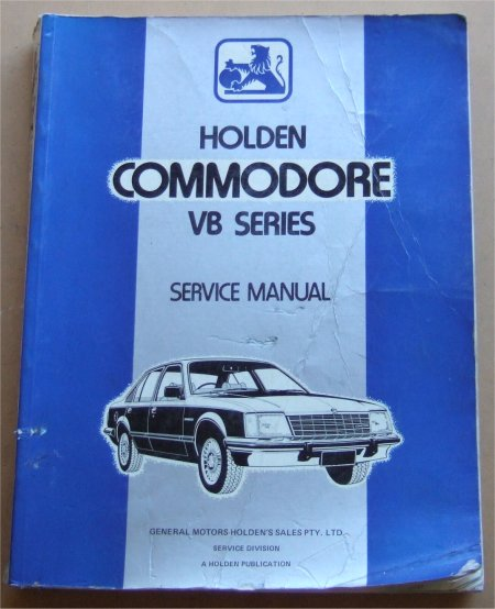 HOLDEN COMMODORE 1978 1979 1980 VB SHOP MANUAL