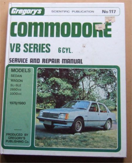 HOLDEN COMMODORE 1978 1979 1980 VB 6 CYL REPAIR MANUAL