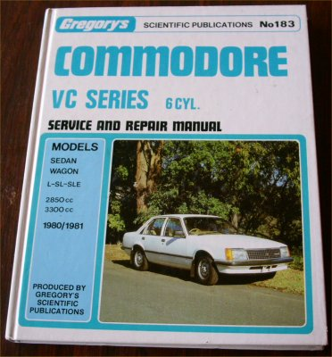 HOLDEN COMMODORE VC 6 CYL REPAIR MANUAL