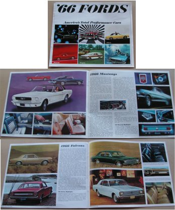 FORD 1966 SALES BROCHURE FALCON MUSTANG GALAXIE TBIRD