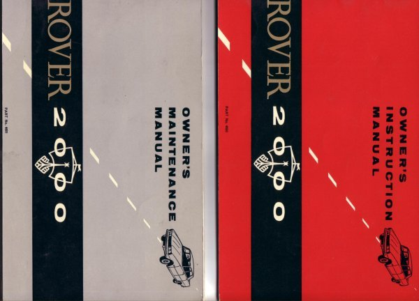 ROVER 2000 1963-65 MAINTENANCE OWNERS MANUALS