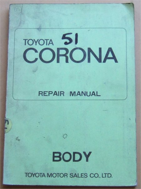 TOYOTA CORONA 1970 BODY MANUAL RT80 RT83 RT93 RT94