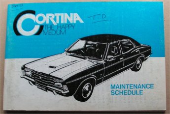 FORD CORTINA blank NOS 1976 TD 4 6 CYL OWNERS SERVICE MANUAL
