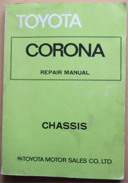 TOYOTA CORONA 1975-1978 CHASSIS REPAIR MANUAL