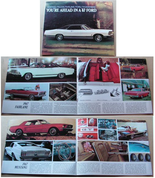 FORD 1967 SALES BROCHURE MUSTANG GALAXIE FALCON