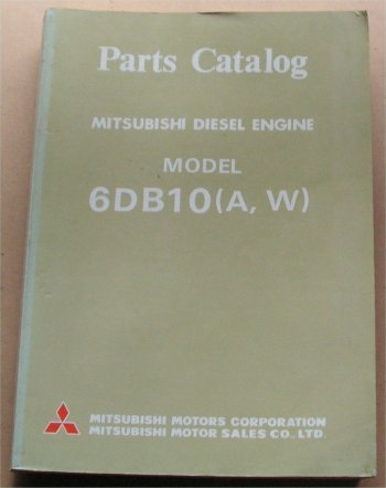 MITSUBISHI 6DB10 A-W DIESEL ENGINE PARTS BOOK