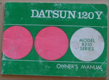 DATSUN 120Y 1974 OWNERS MANUAL