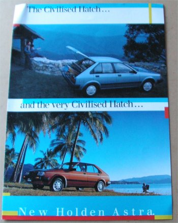 HOLDEN ASTRA 1985 4 PAGE SALES BROCHURE