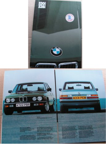 BMW 1983 520i 528i SALES BROCHURE