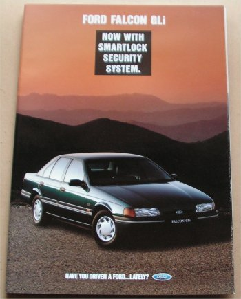 FORD FALCON 1992 1993 EB Gli SERIES 2 BROCHURE