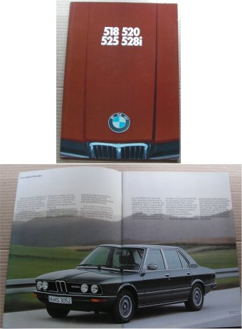 BMW 1978 518 520 525 528i SALES BROCHURE