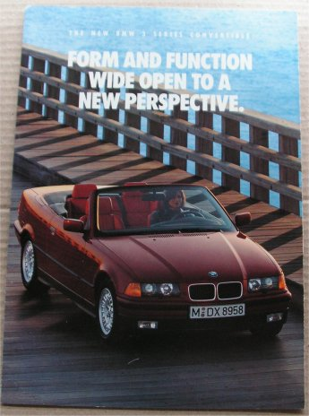BMW 1993 325i CONVERTIBLE SALES BROCHURE