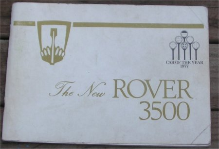 ROVER 3500 1978 SD1 OWNERS MANUAL