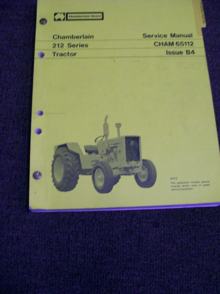 CHAMBERLAIN 212 TRACTOR ORIGINAL SERVICE REPAIR MANUAL