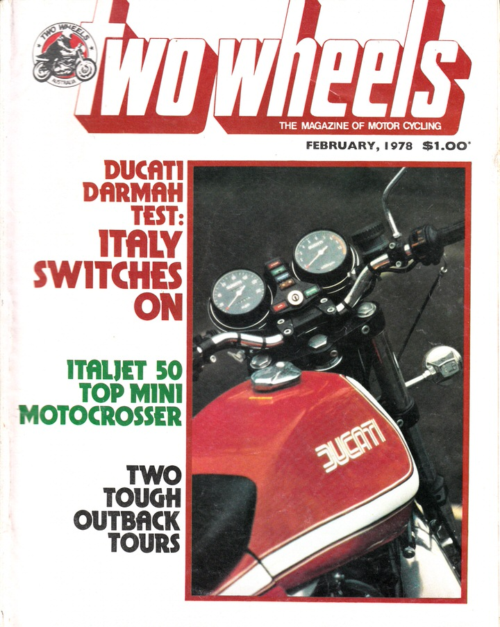 TWO WHEELS MAGAZINE 1978/02 DUCATI DARMAH ITALJET CB125T