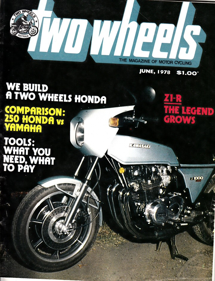 TWO WHEELS MAGAZINE 1978/06 KAWASAKI  Z1-R 1000 Z650 XS250