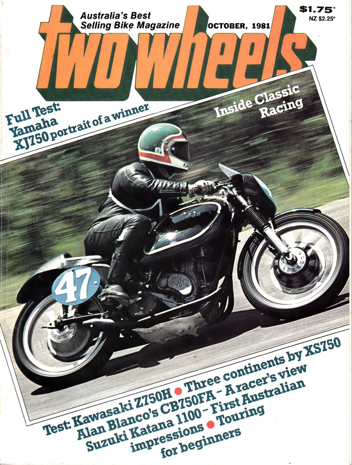 TWO WHEELS MAGAZINE 1981/10 KAWASAKI Z750H YAMAHA XJ750