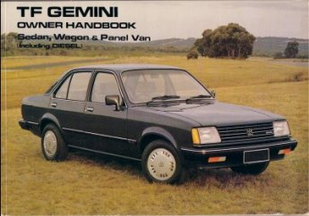 HOLDEN GEMINI TF 1982 &1983 OWNERS MANUAL