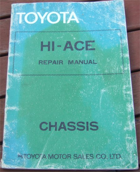 TOYOTA HI ACE 1977-1982 CHASSIS MANUAL